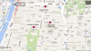 Gion-kobu kaburenjo Kyoto Geiko Maika access map JaPlanning maps travel