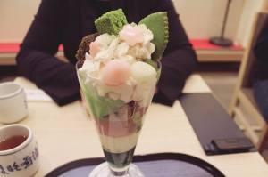 Tsujiri Honten green tea sundae kyoto freelance
