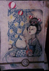 Geisha poster Pontocho Kyoto Freelance Writer