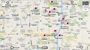 Ryokan Ryokufuso locale Kyoto cenral travel Japan Geiko Maiko JaPlanning maps