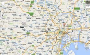 Ghibli museum map JR Chuo Yamanote Tokyo hiyao miyazaki Japan JaPlanning maps travel