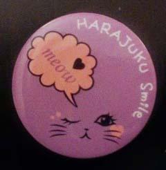 harajuku smile button badge takeshita dori Japan Tokyo shopping JaPlanning