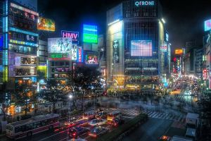 Shibuya crossing night hachiko 109 love hotels Tokyo Japan JaPlanning travel