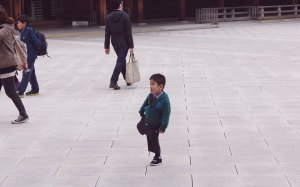 Meiji Shrine Shinto wedding cheeky boy Japan Tokyo Shibuya travel JaPlanning