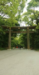 Meiji Shrine Torii gate Shibuya Harajuku yoyogi jingu Japan travelling JaPlanning